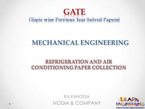 R K Kanodia Refrigeration and Air conditioning Notes