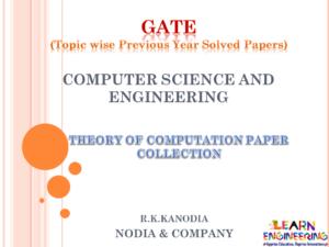 R K Kanodia Theory of Computation Notes