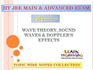 Wave Theory (Physics) Notes for IIT-JEE Exam