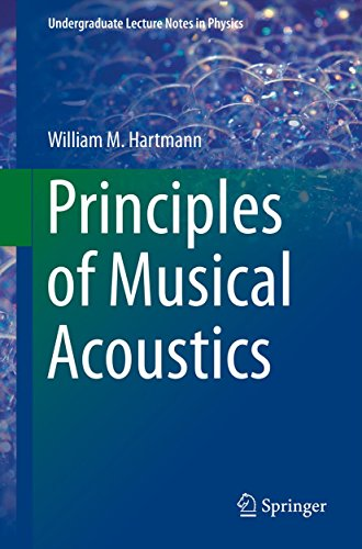 Principles of Musical Acoustics By William M. Hartmann