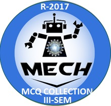 Mechanical Engineering R2017 Third Semester Subjects MCQ