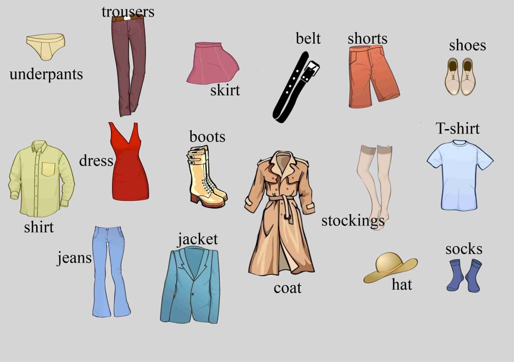 Common English Vocabulary For Clothes