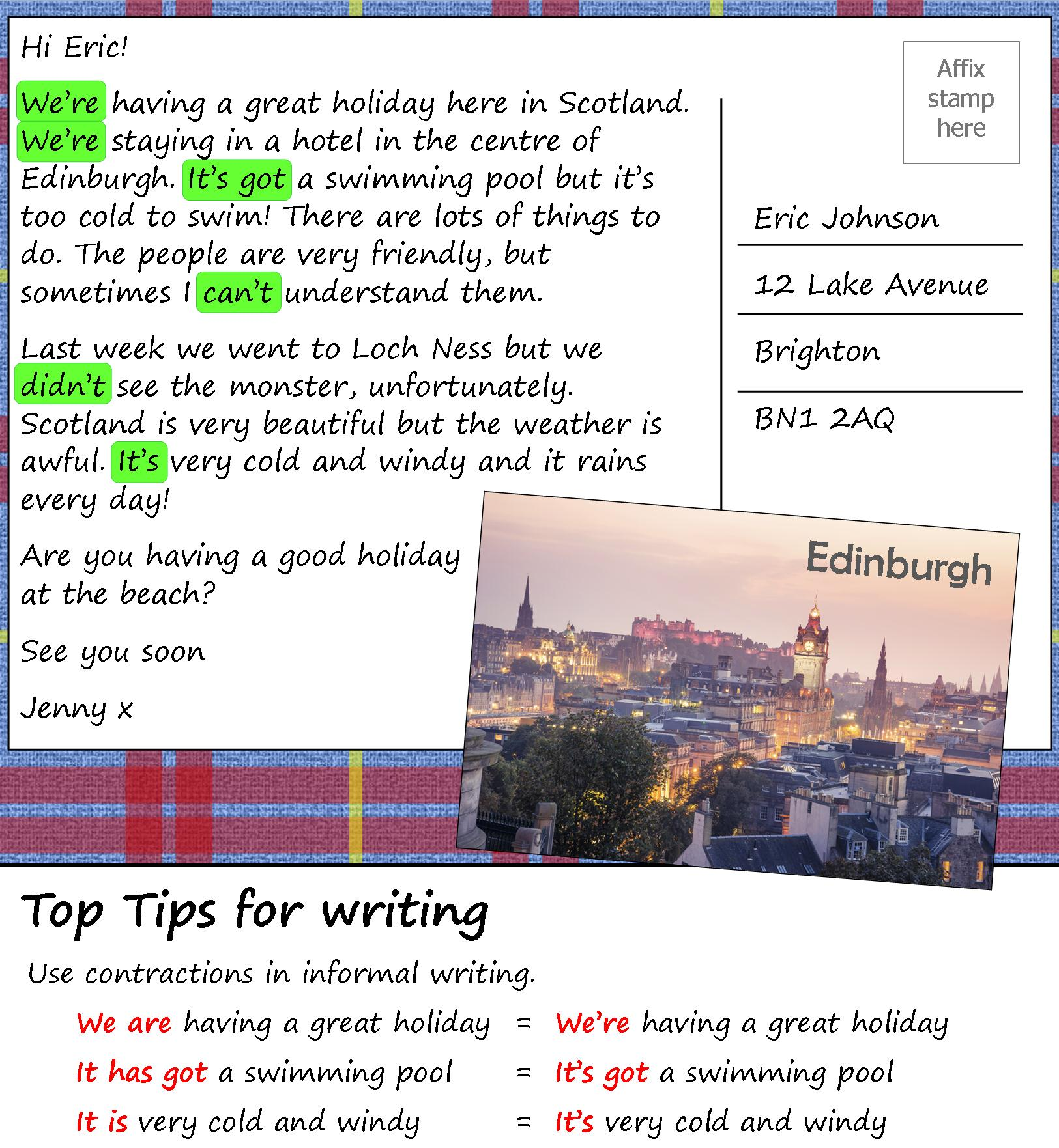 A Postcard From Scotland Learnenglish Teens