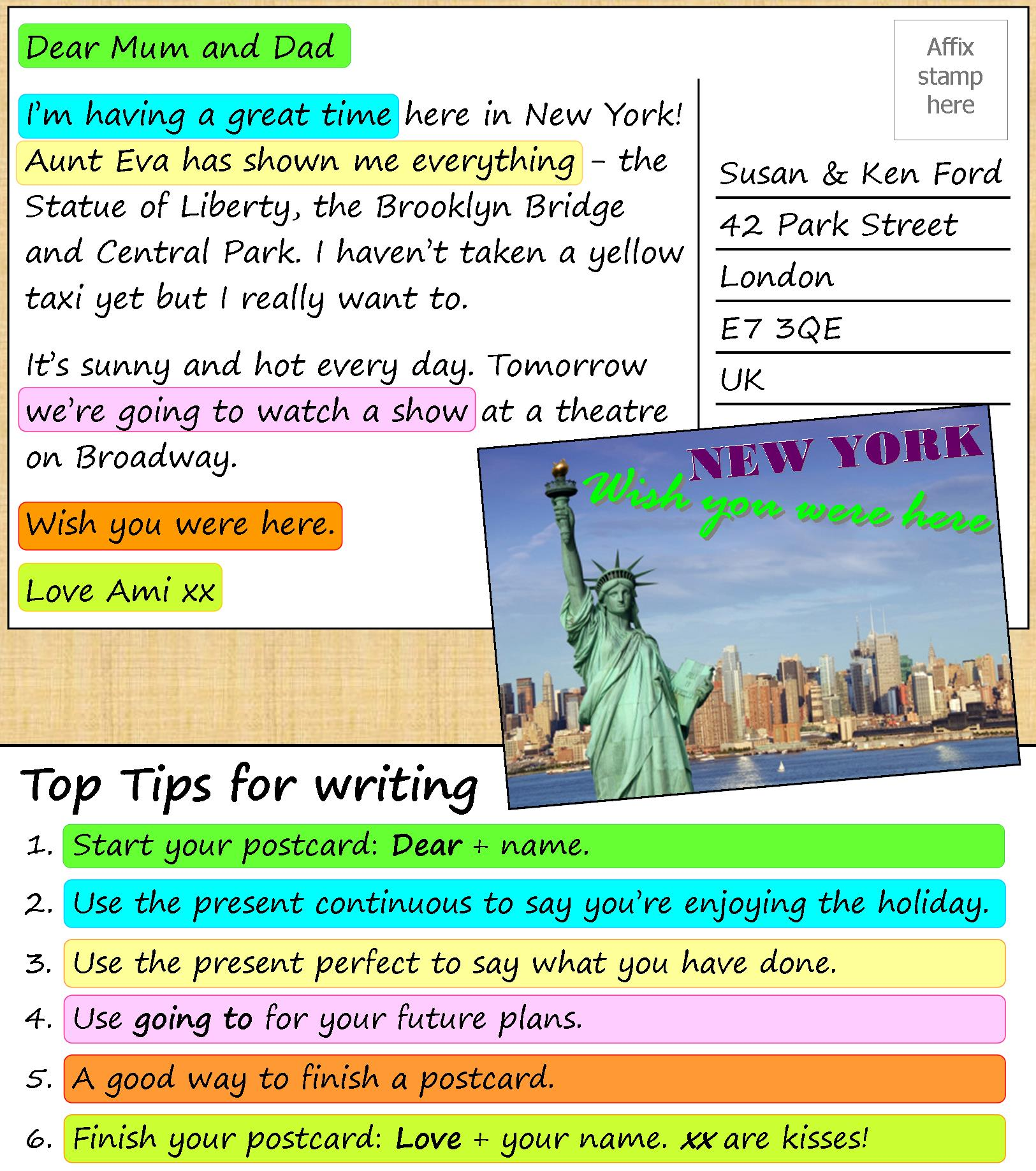 A Postcard From New York Learnenglish Teens