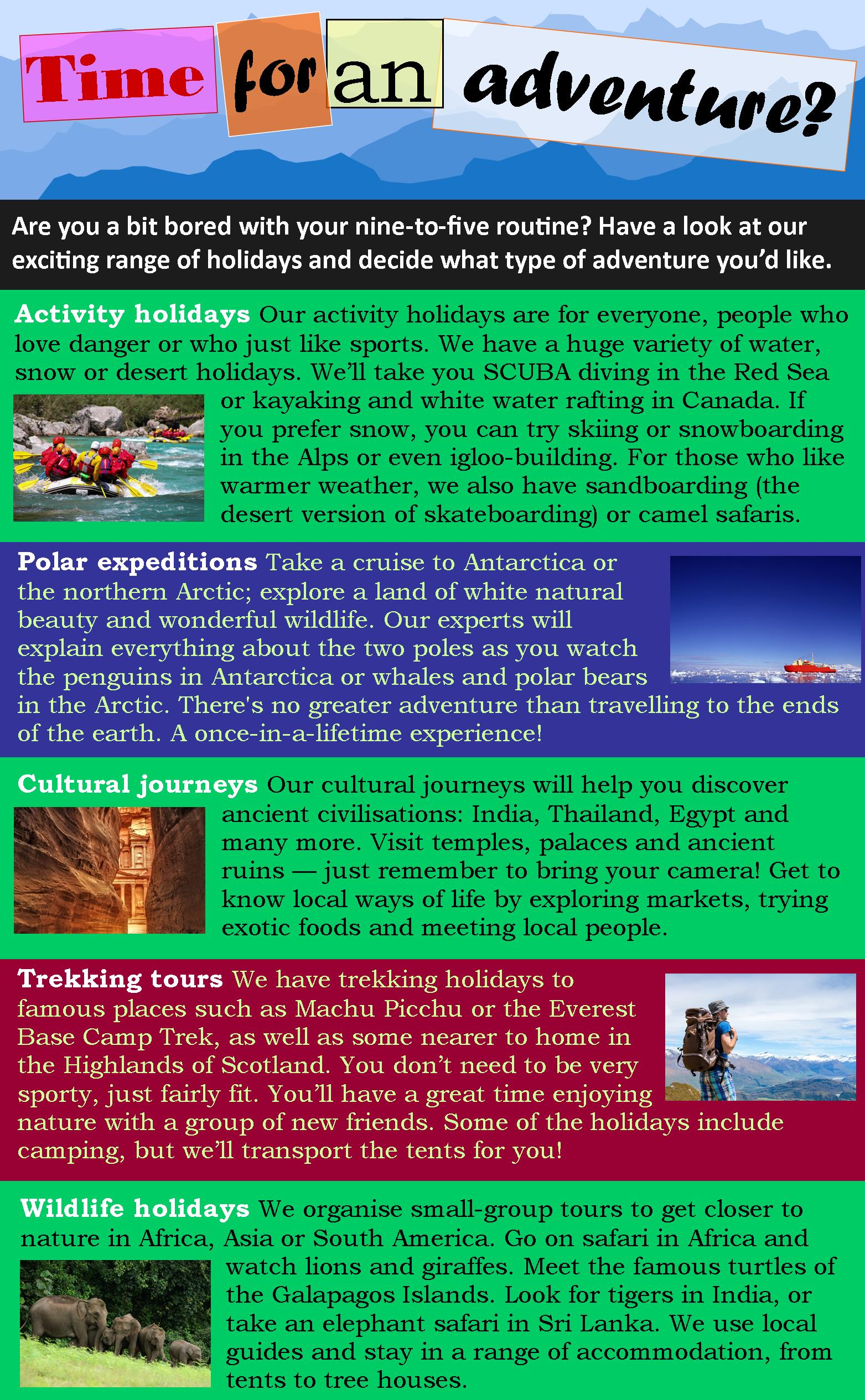 Adventure Travel Learnenglish Teens