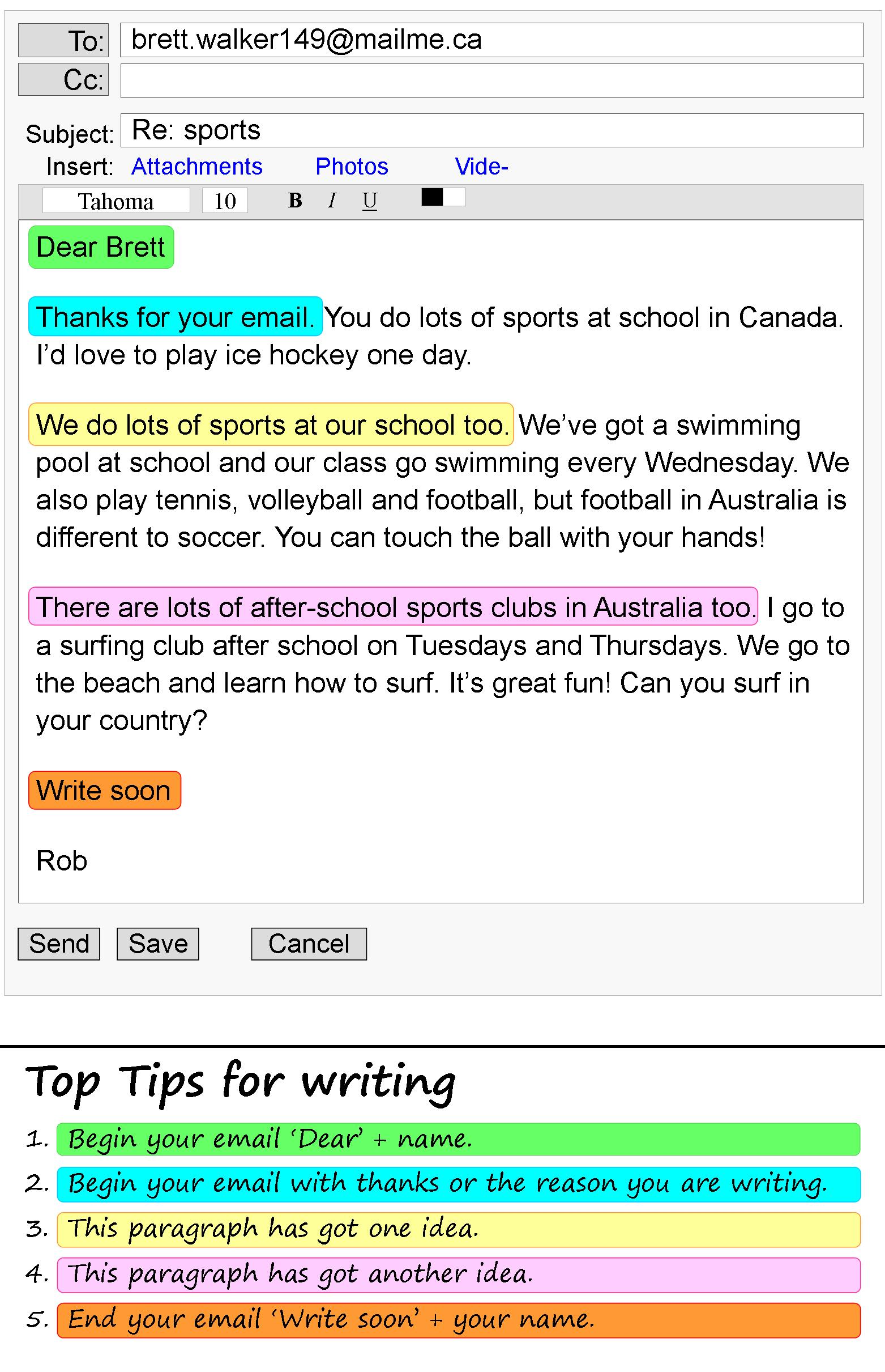 An Email About Sports Learnenglish Teens