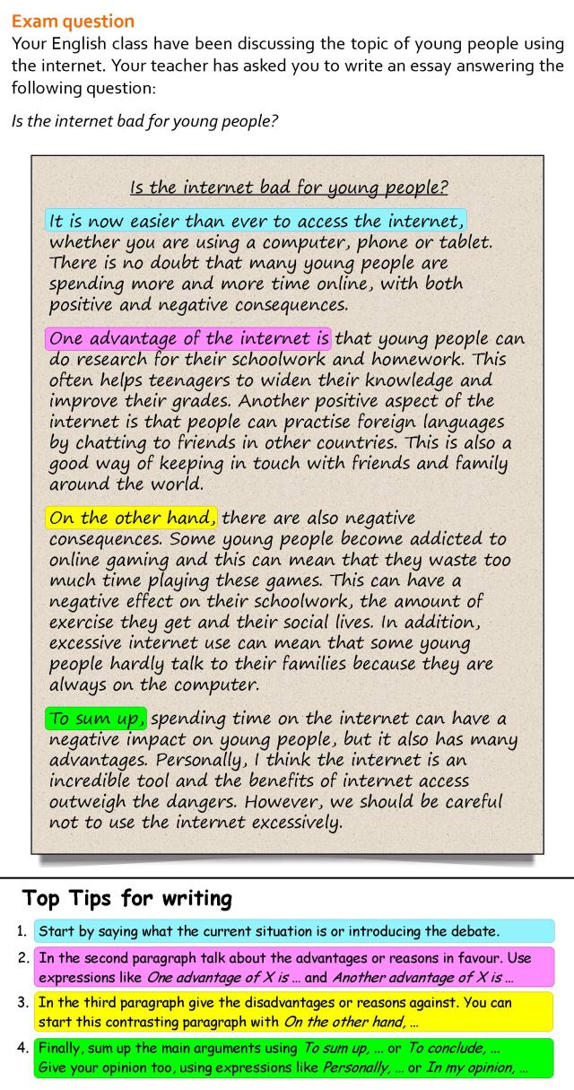 A for and against essay about the internet  LearnEnglish Teens