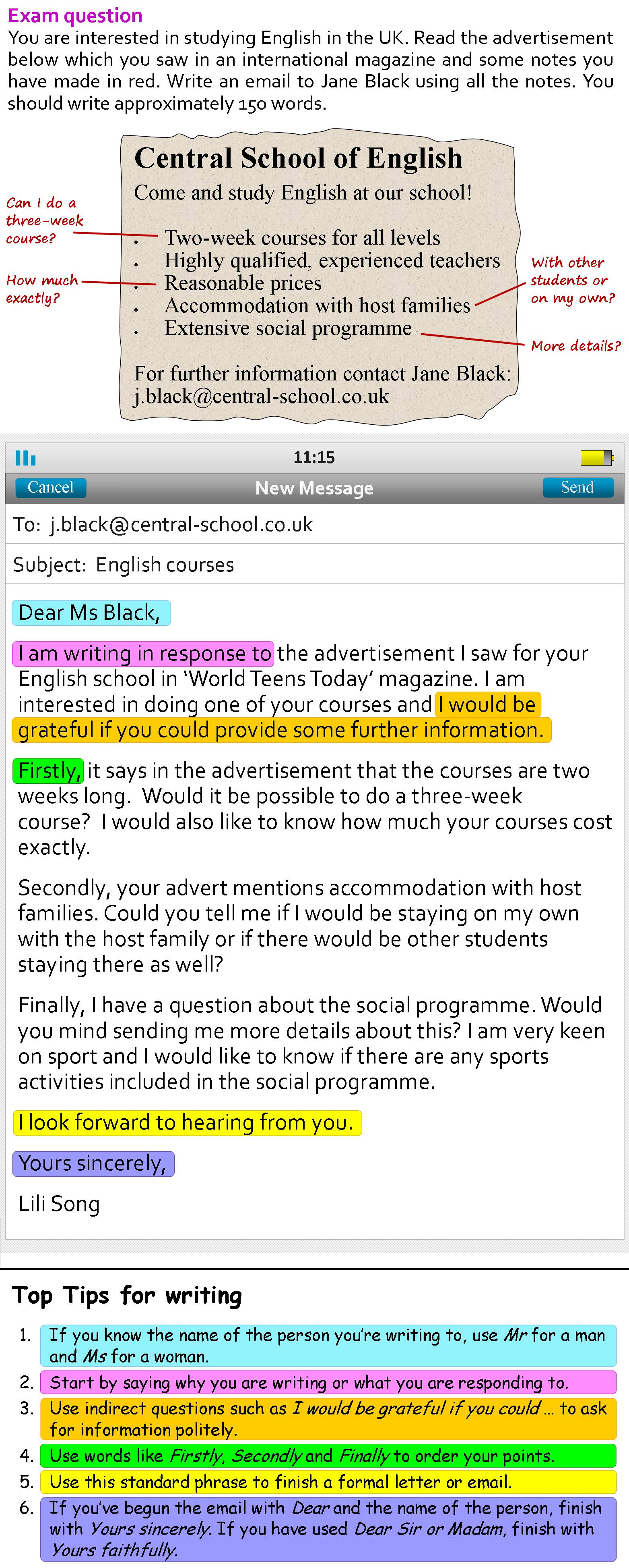 A More Formal Email Learnenglish Teens