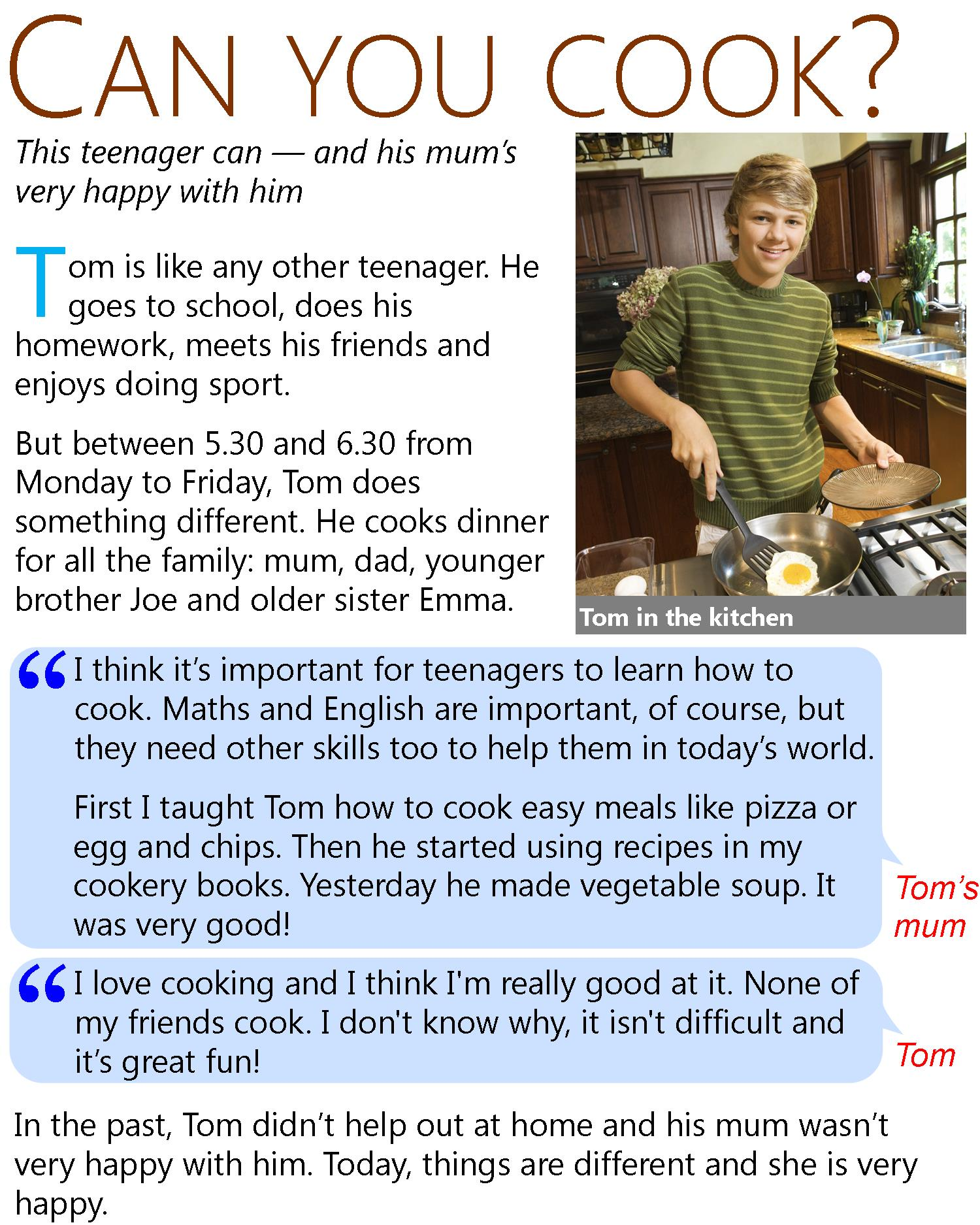 Can You Cook Learnenglish Teens