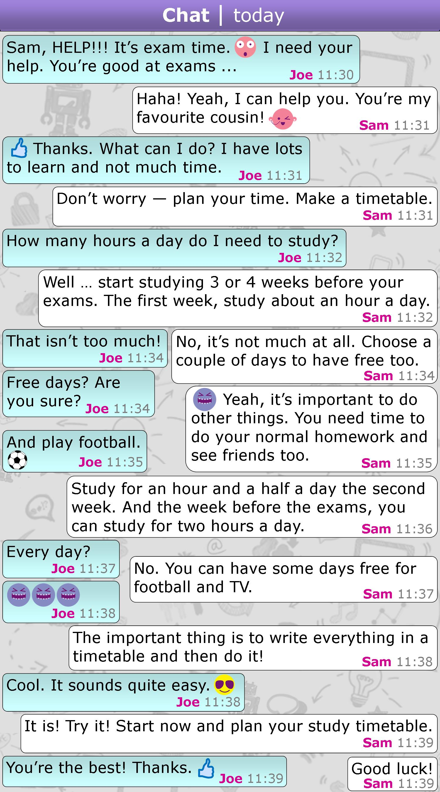 Exam Help Messages Learnenglish Teens