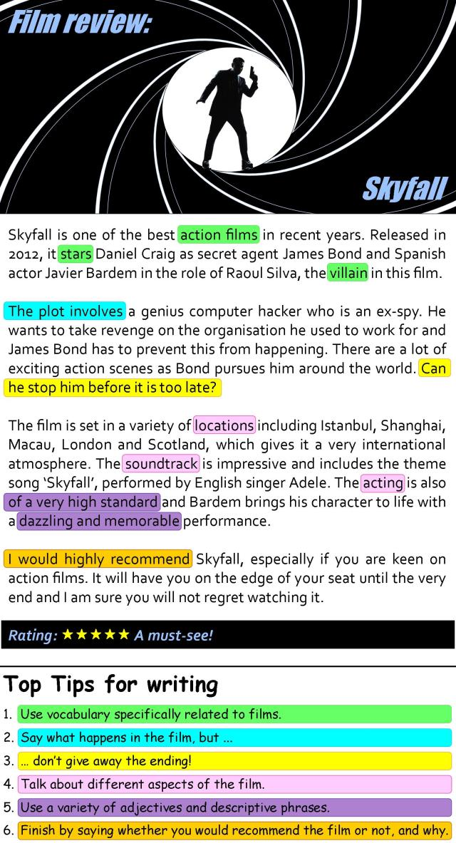 Skyfall film review  LearnEnglish Teens - British Council