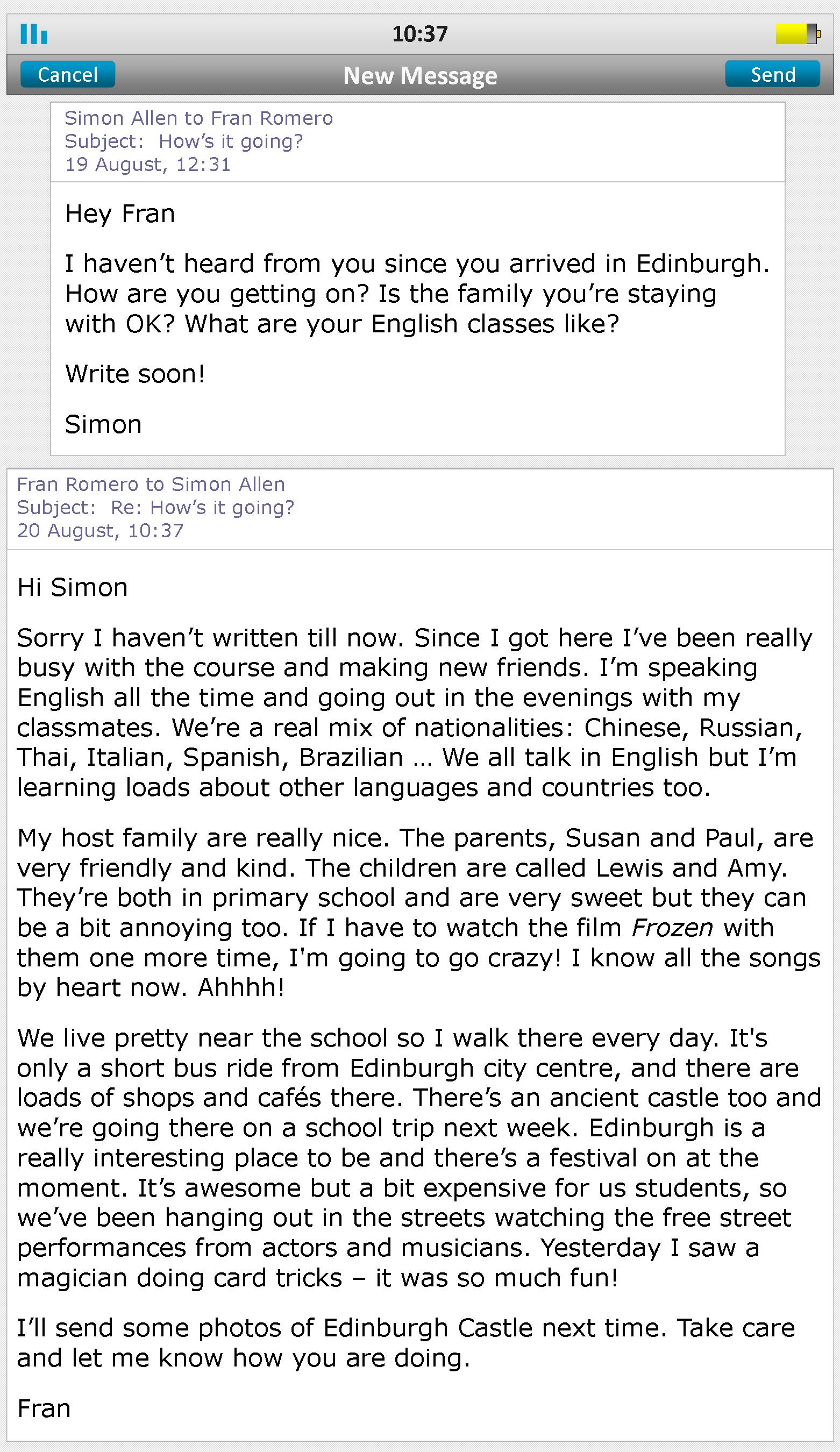 Foreign Exchange Emails Learnenglish Teens