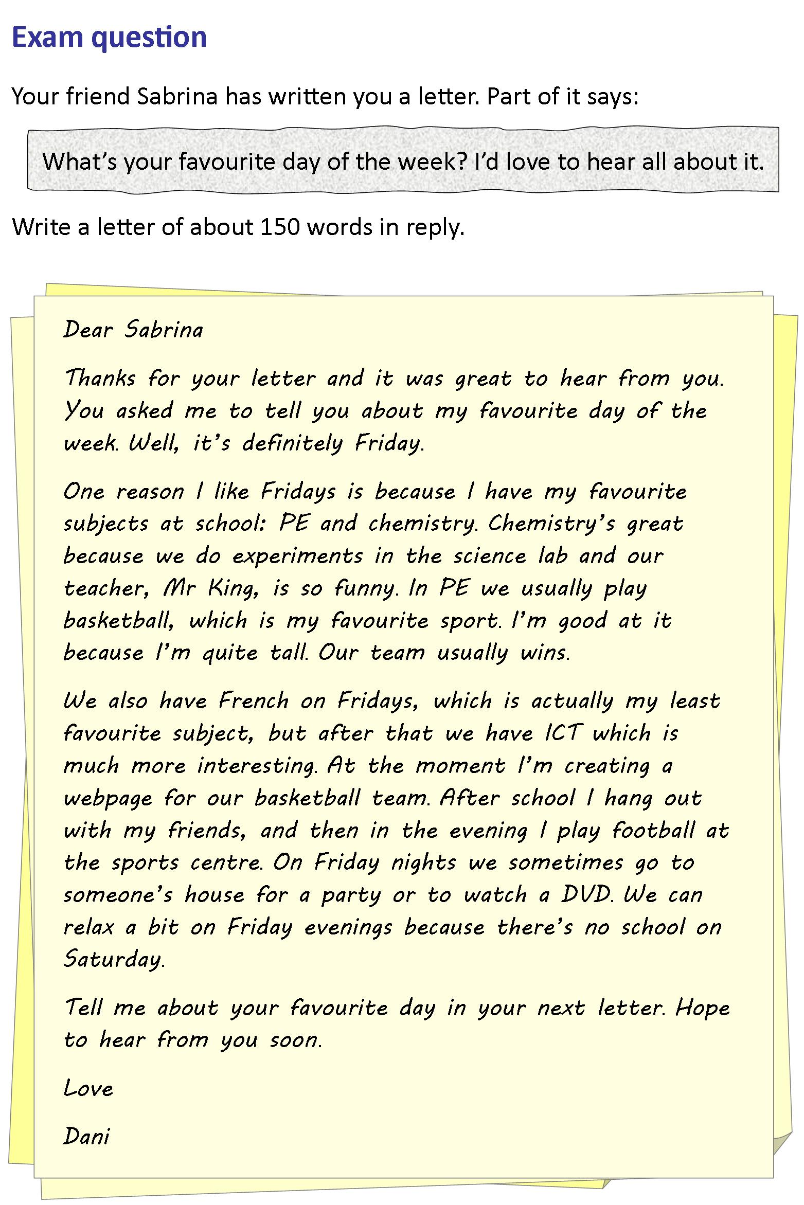 A Letter To A Friend Learnenglish Teens