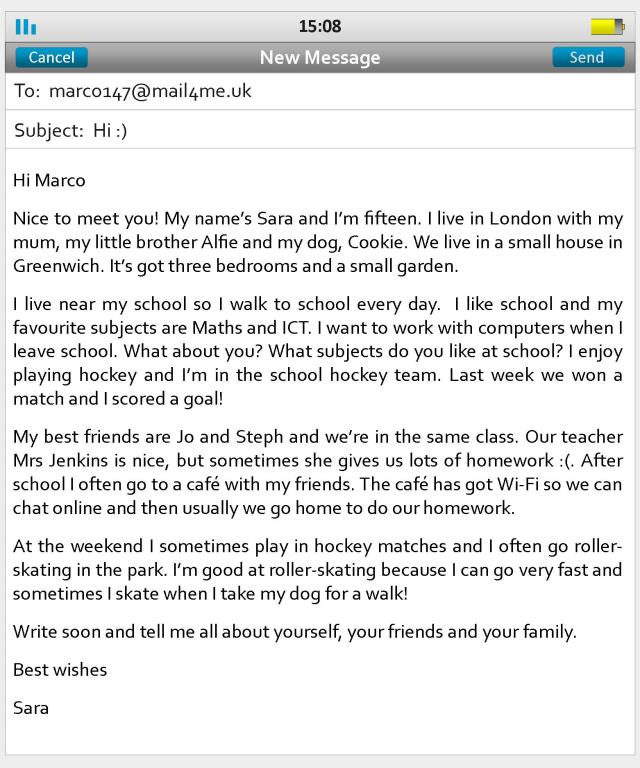 An email to a new friend  LearnEnglish Teens - British Council