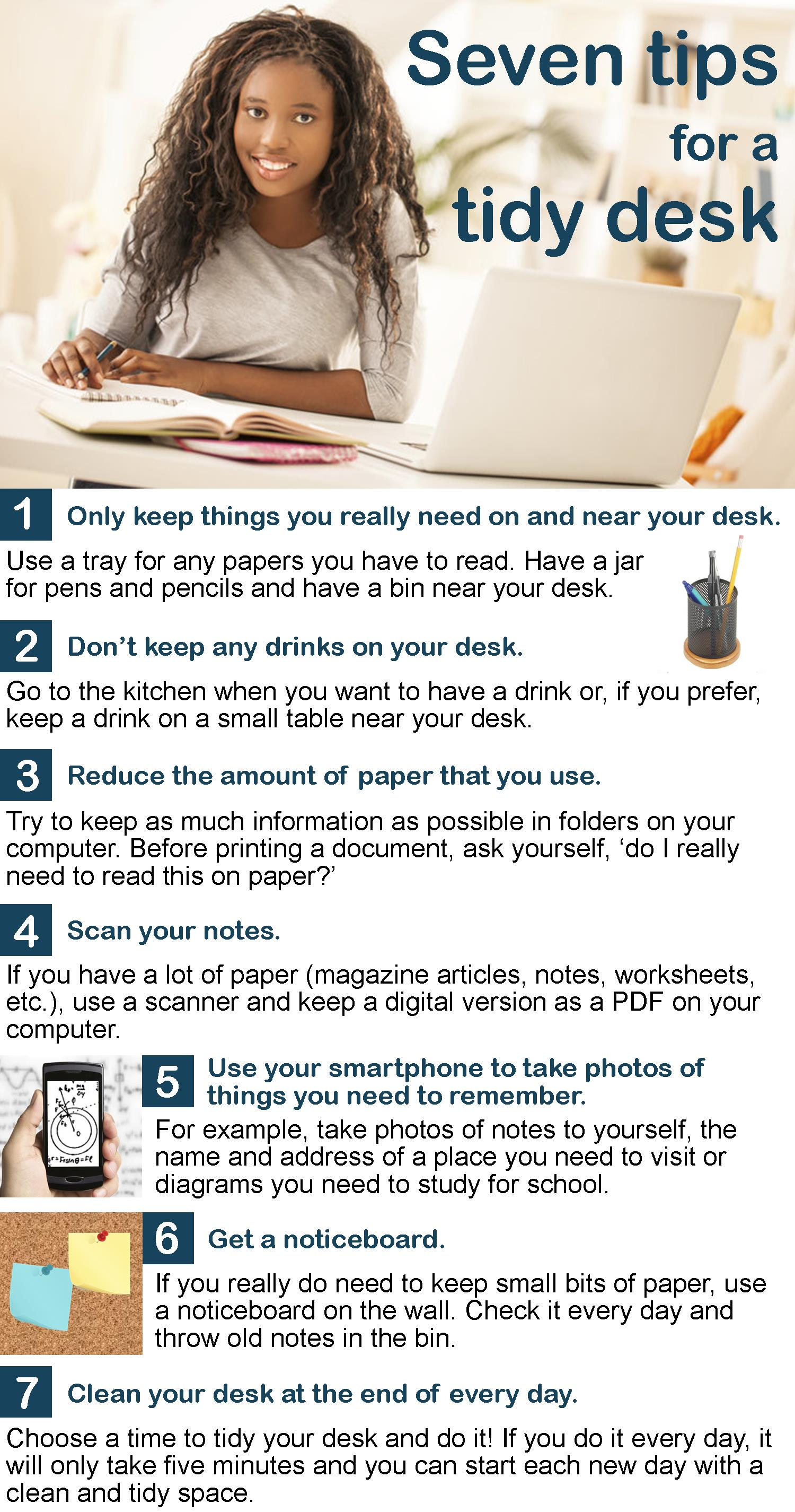 7 Tips For A Tidy Desk Learnenglish Teens
