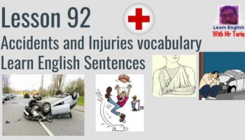 Accidents and Injuries vocabulary