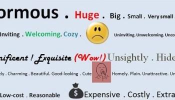 english descriptive words