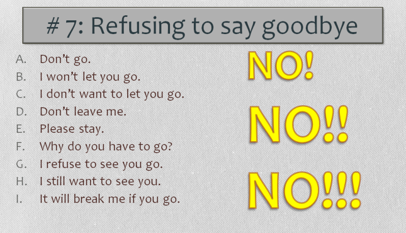 English Worksheet, Refusing to say goodbye, Learn English With Africa, 2016