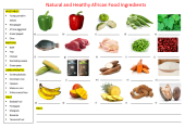 English Worksheet, Natural And Healthy African Food Ingredients, Learn English With Africa, 2016,