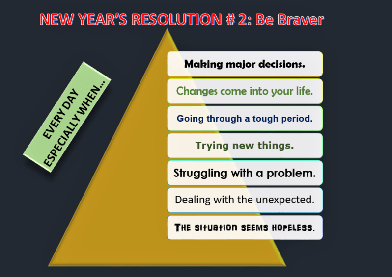 New Year's Resolutions # 2, Be Braver, Learn English With Africa, December 2016-English Worksheets