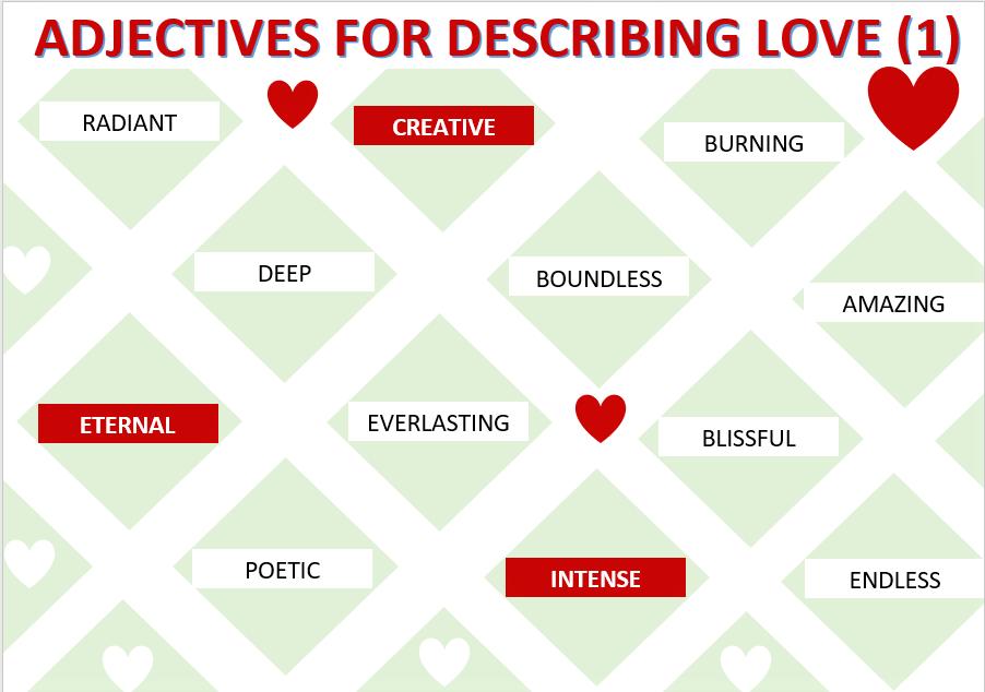 love vocabulary story