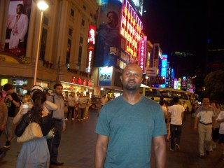 T. on Shanghai's Nanjing Road