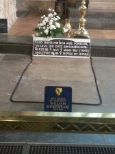 The famous grave with the enigmatic message to posterity.