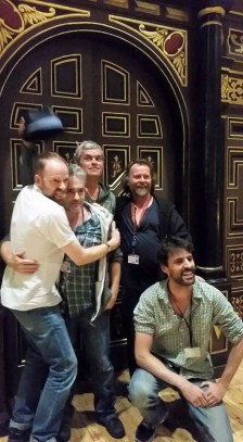 The Grown-ups from left to right: Pieter Lawman, Fergal McElherron, Marcello Marascalchi, Colin Hurley, and Tom Davey