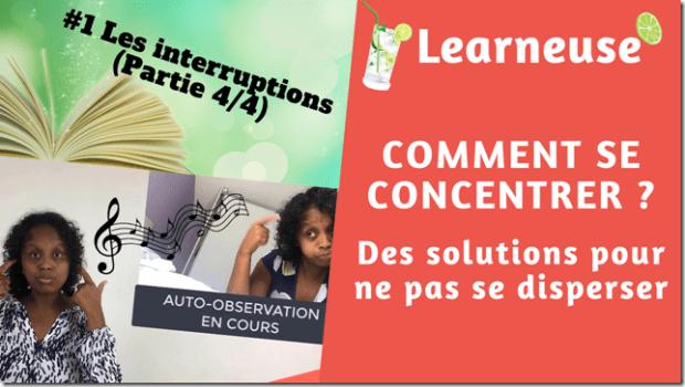 solutions aux problèmes de concentration