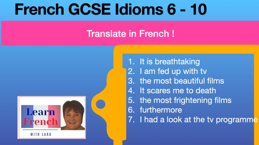 French GCSE Idioms translation