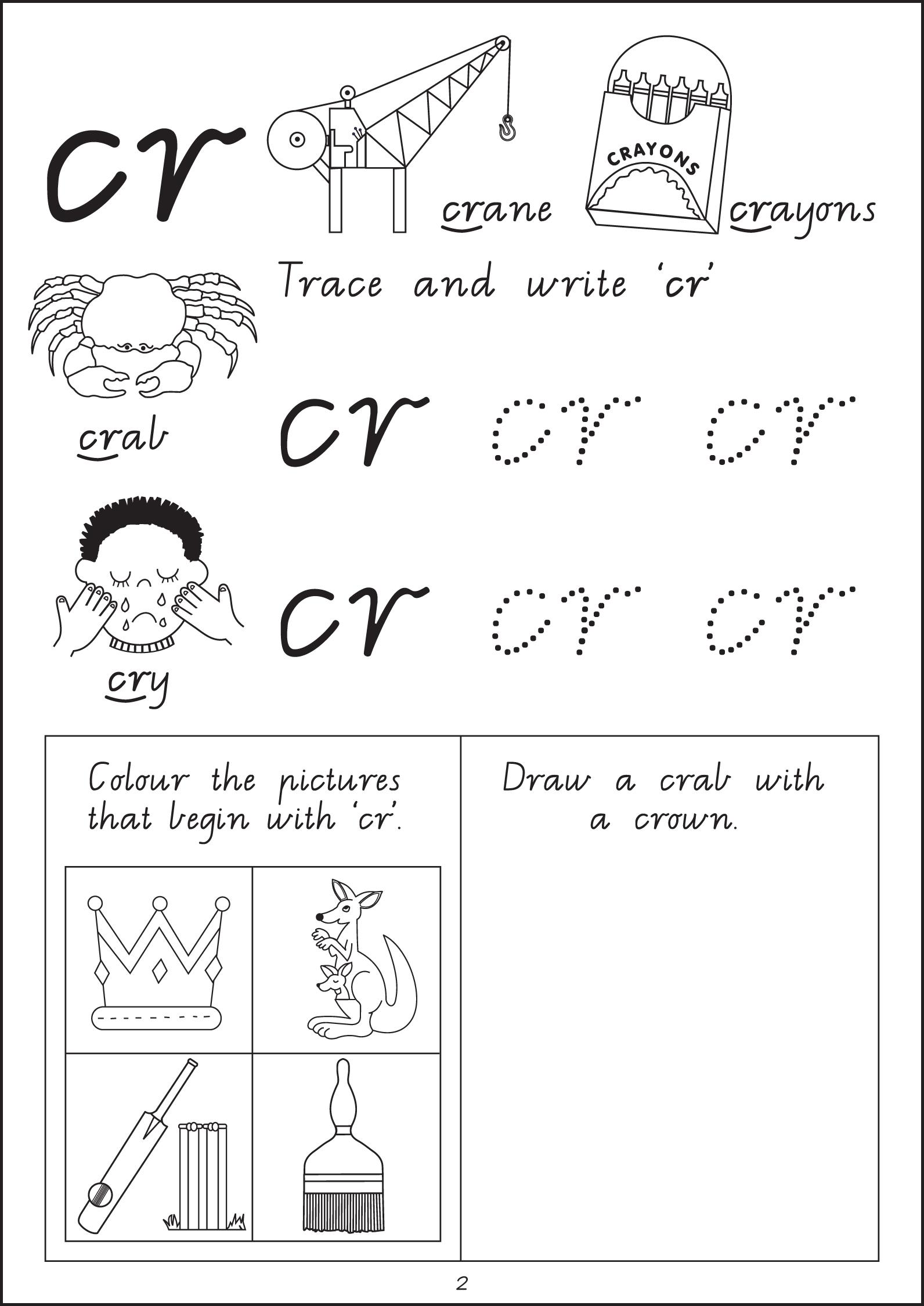 Kindergarten Worksheet Pl And Pr