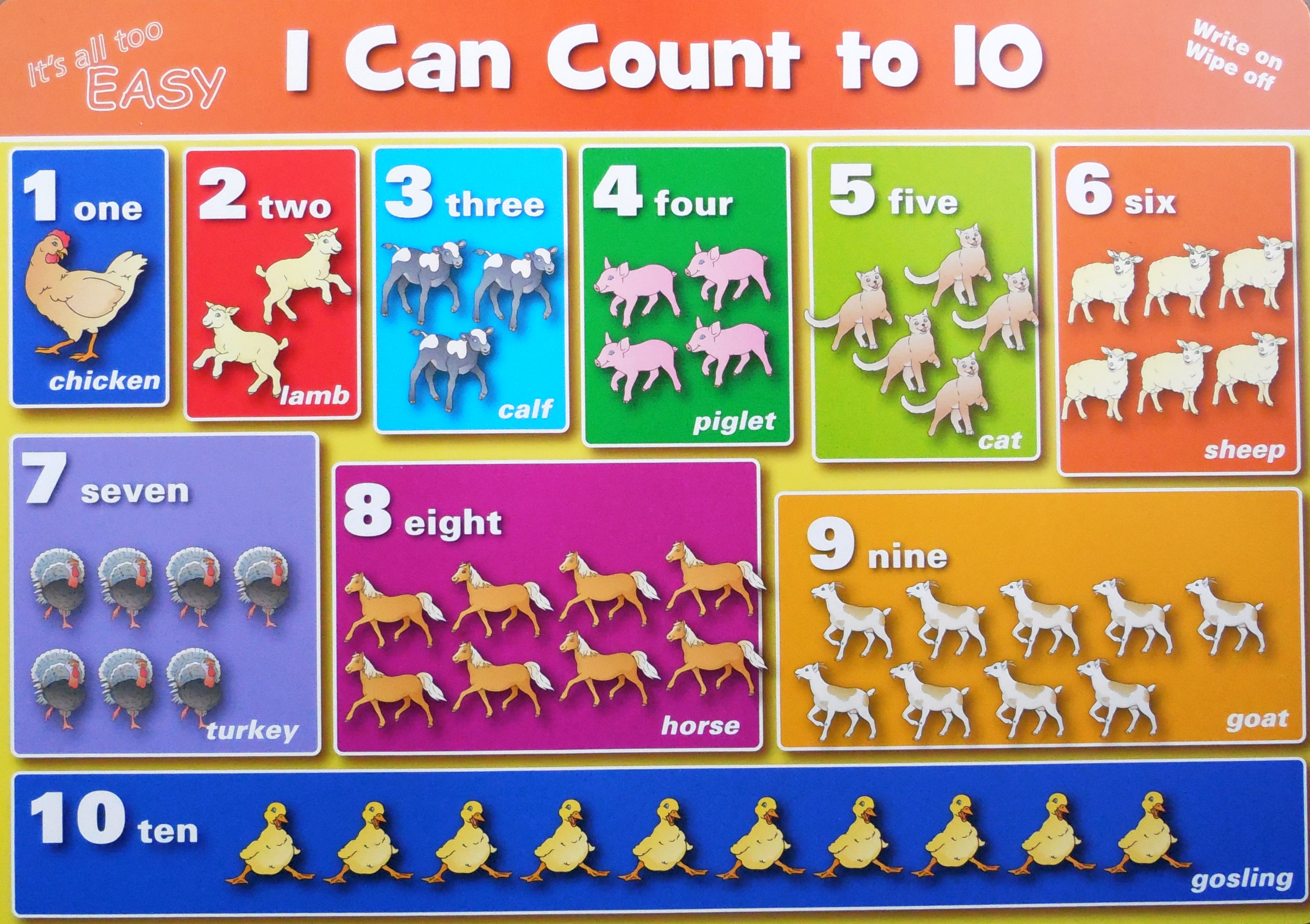 Counting To 10 Double Sided Deskmat Learn Heaps