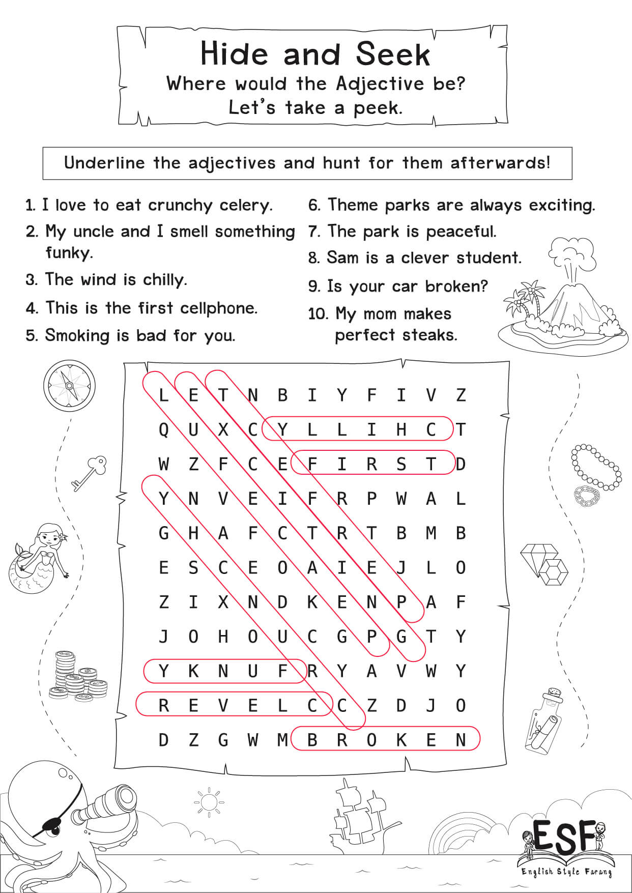 Adjective Amp Adverb Worksheets