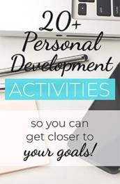 Download your FREE Personal Development Activities PDF