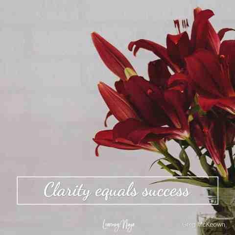 Clarity equals success - Greg McKeown