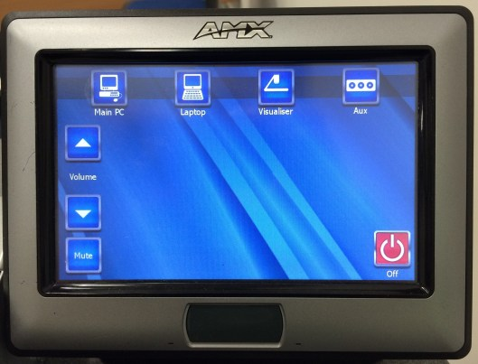 AMX Touchscreen panel