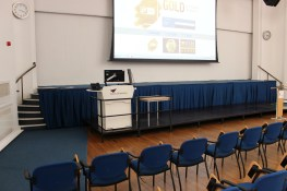 Gt. Hall new lectern, screen