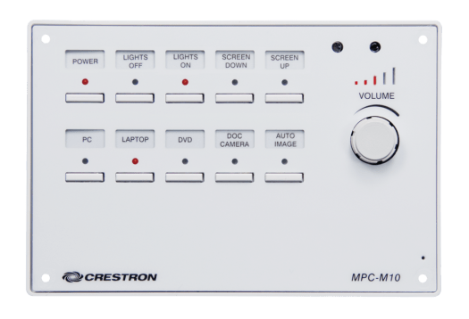 Crestron mpc-m10 buttons