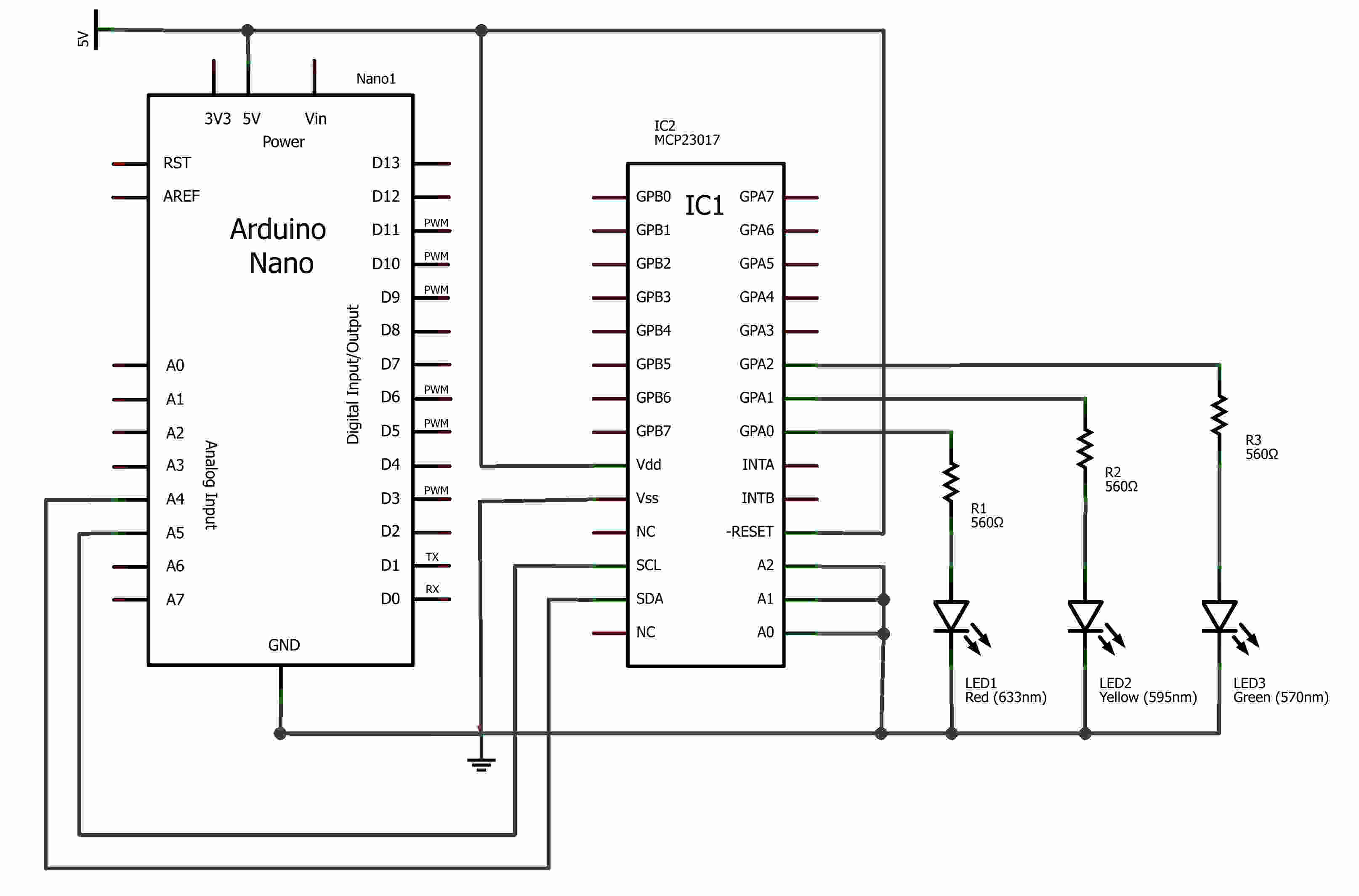 Mcp Output Using I2c