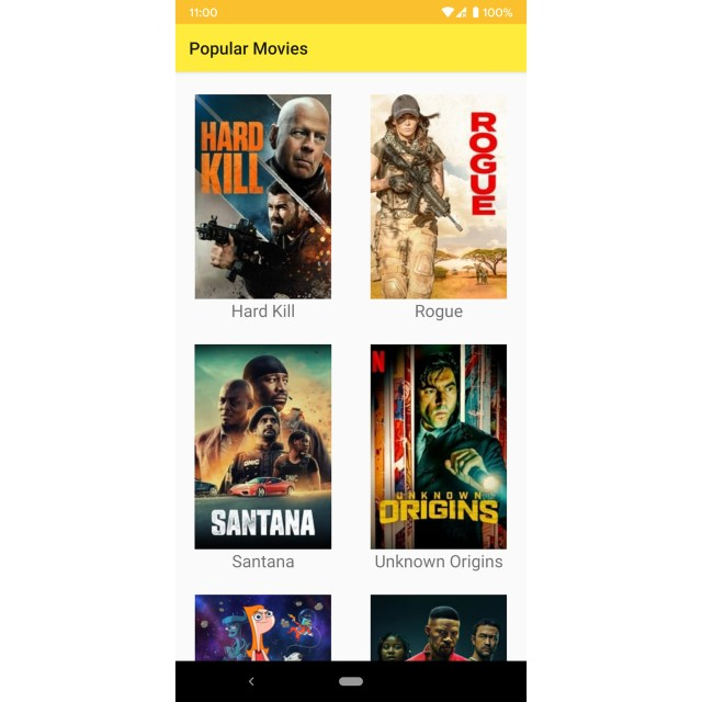 Figure 13.3: The app with the year's popular movies