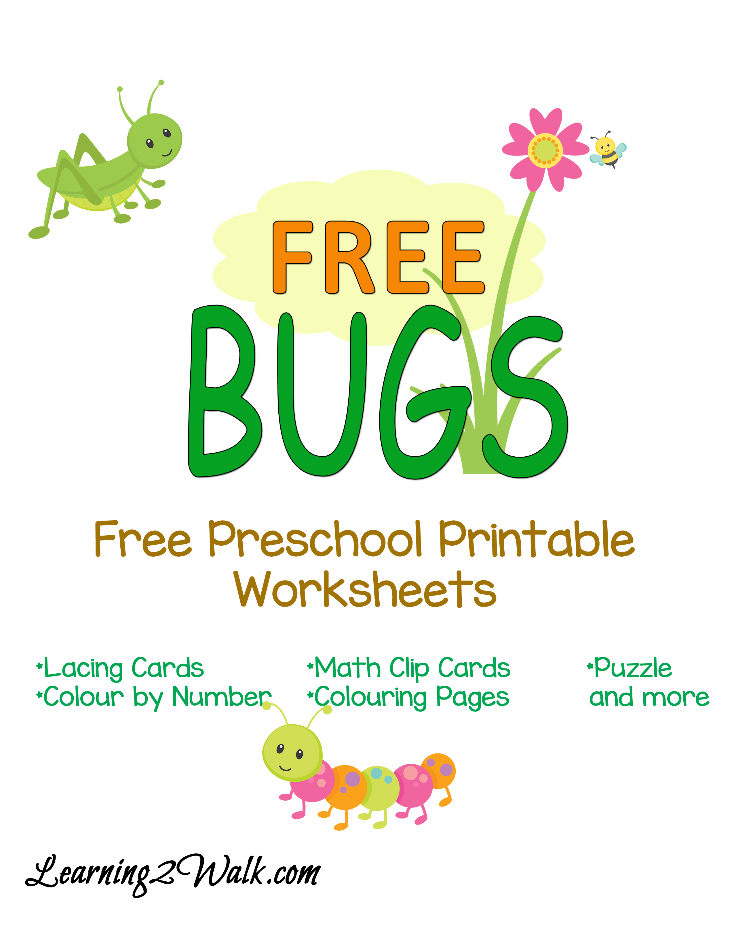 Free Bugs Preschool Printable Worksheets