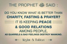 Hadith: Keep the peace