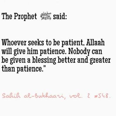 Hadith: The blessing of patience
