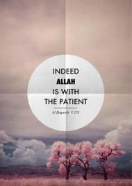 Indeed Allah is with the patient