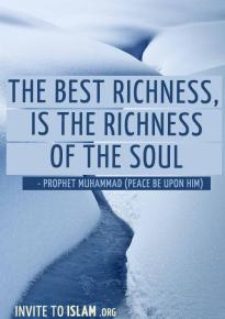 Hadith: Richness of soul