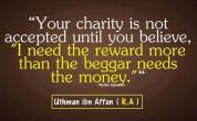 Wisdom: Uthman Ibn Affan and charity