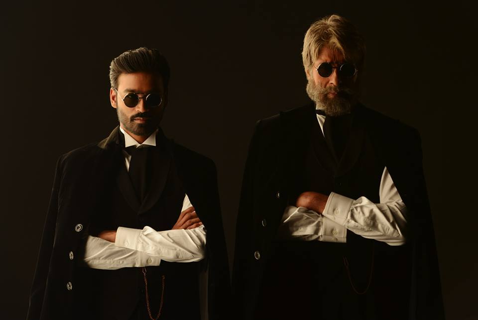 Dhanush and Amitabh Bachchan in Shamitabh
