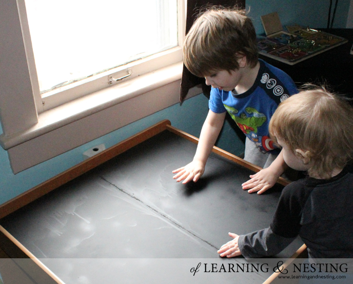 DIY Chalkboard Train Table - Of Learning and Nesting