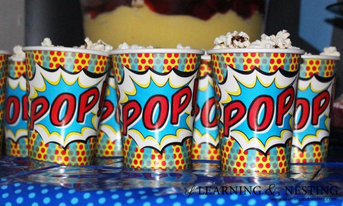 A Superhero 4th Birthday - POPcorn