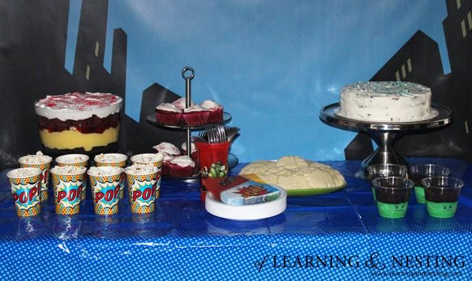 A Superhero 4th Birthday - Dessert Table
